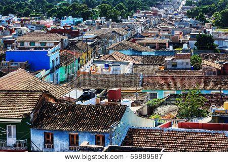 Trinidad street on a sunny day