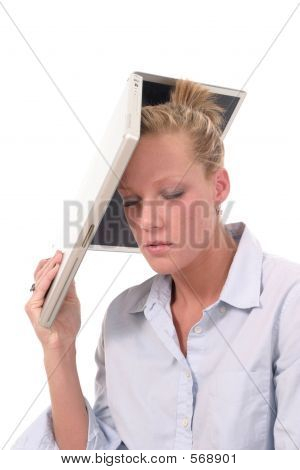 Woman Throwing Laptop 4