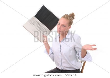 Woman Throwing Laptop 3