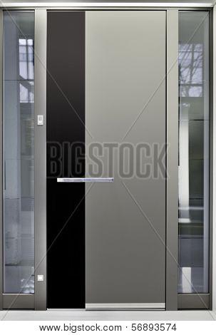Massive Metallic Entry Front Door