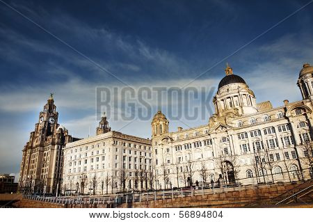 The Three Graces - Liverpool Skyline