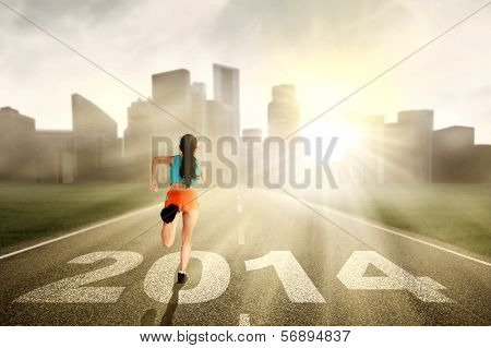 Running To New Future In A Big City