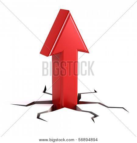 Up arrow - success concept