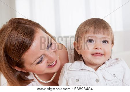 Little Girl With Her Mother