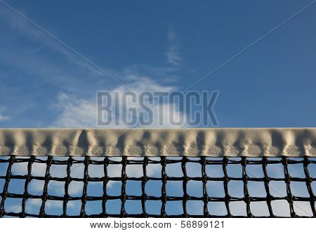 Tennis Net with the Sky Beyond