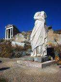 Women statue in Delos island