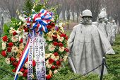 WASHINGTON DC - JANUARY 10, 2014: Korean War Veterans Memorial located in National Mall in Washingto
