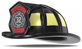 foto of firefighter  - Firefighter Helmet - JPG