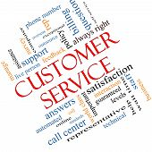stock photo of rep  - Customer Service Word Cloud Concept angled with great terms such as call center help staff rep and more - JPG
