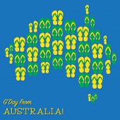 picture of thong  - Australian Map Made Of Thongs  - JPG