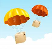 stock photo of parachute  - Vector parachute background - JPG