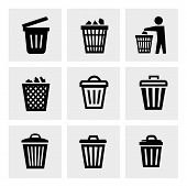 picture of dustbin  - Trash can icon - JPG