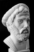 picture of pythagoras  - Pythagoras of Samos was an important Greek philosopher mathematician geometer and music theorist - JPG