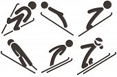 picture of nordic skiing  - The winter sport icons  - JPG