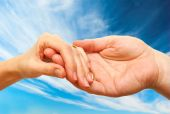 stock photo of helping others  - Two hands  - JPG