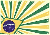 stock photo of brasilia  - detailed grungy background illustration with stars and brazilian flag elements - JPG