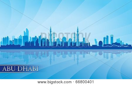 Abu Dhabi City Skyline Silhouette Background