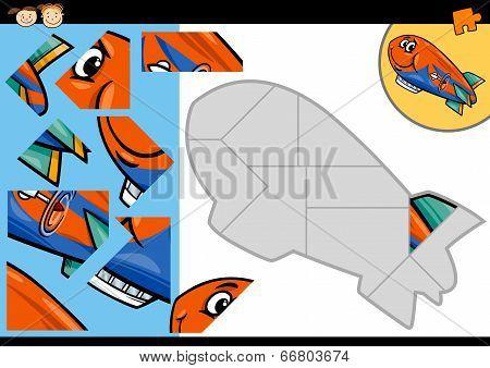 Cartoon Blimp Puzzle Game