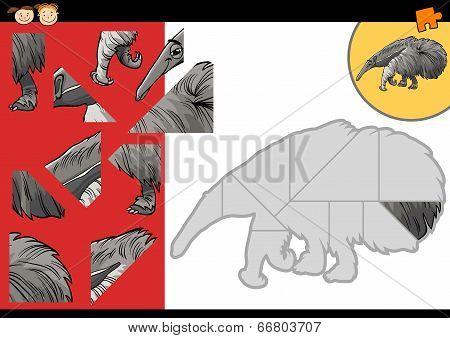 Cartoon Anteater Puzzle Game