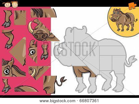 Cartoon Warthog Puzzle Game