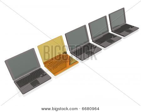 Laptops - Gold And Grey