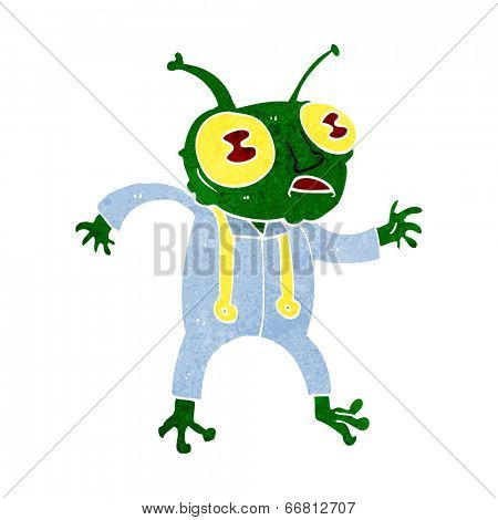 cartoon alien spaceman