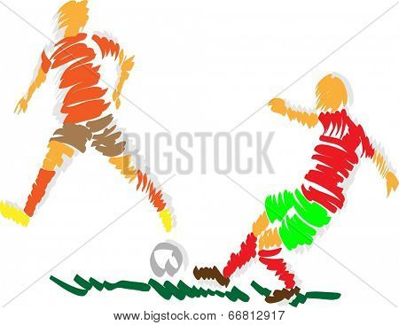 vector - abstract design soccer  - isolated on background