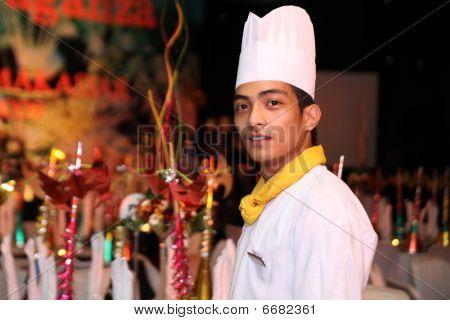 chef posing at gala dinner