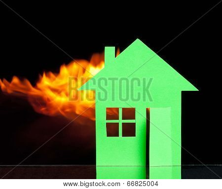 House In A Fire
