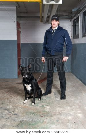 Policeman And K9 Unit