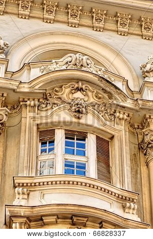 Stone Facade On Classical Building