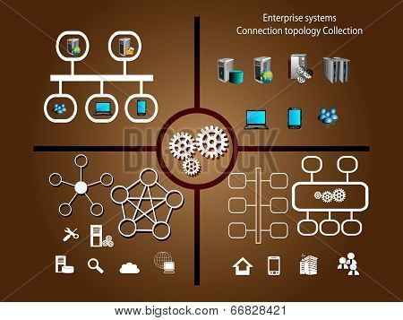 Enterprise Applications connectivity and Infographic components
