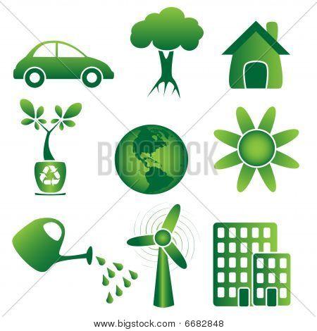 Icon set-ecology