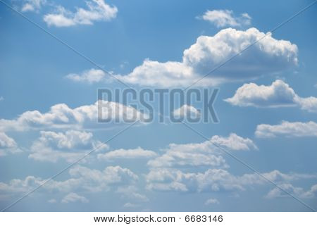 Soft White Clouds And Blue Sky