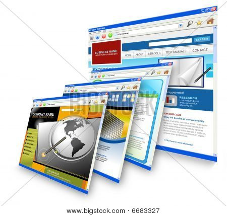 Technologie Internet Websites standing