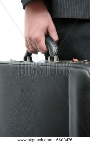 Hand And Arm Holding Briefcase