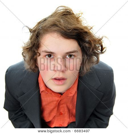 Businessman Looking Upward
