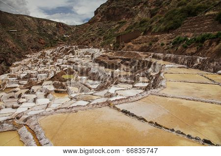 View of Salt ponds Maras. Peru
