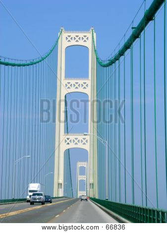 Driving Over A Suspension Bridge