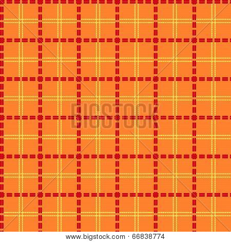 Bright Orange Seamless Mesh Pattern