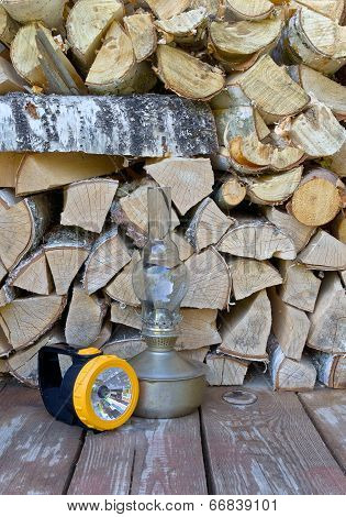 Lamps and firewood