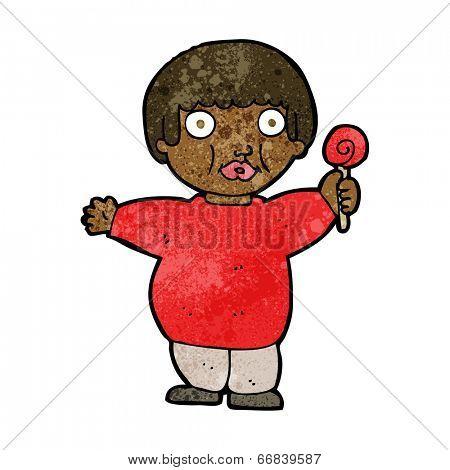 cartoon fat child