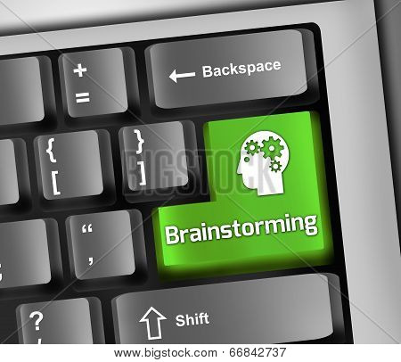 Keyboard Illustration Brainstorming