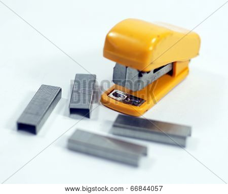 Stapler with staples