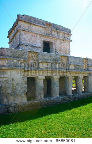 Maya Construction In Archeologycal Zoneof Tulum