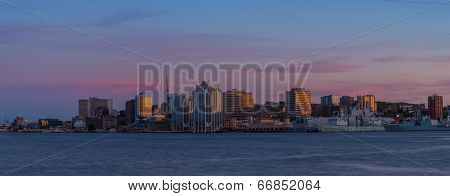 Panorama Of Panorama of Halifax Nova Scotia at sunset