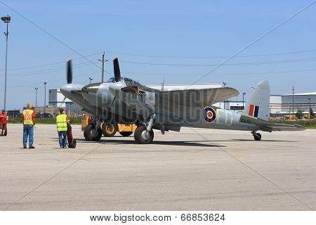 Legendary De Havilland Mosquito In Preparation To Fly On Hamilton Skyfest 2014