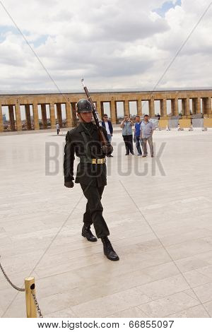 Soldier At The Changing Of The Guard Ceremony