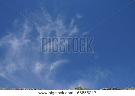 Blue Sky And Cloud Formation