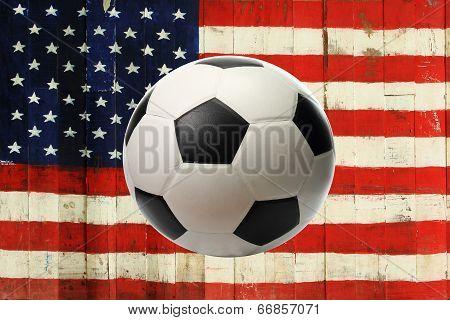 The Usa Flag With Ball